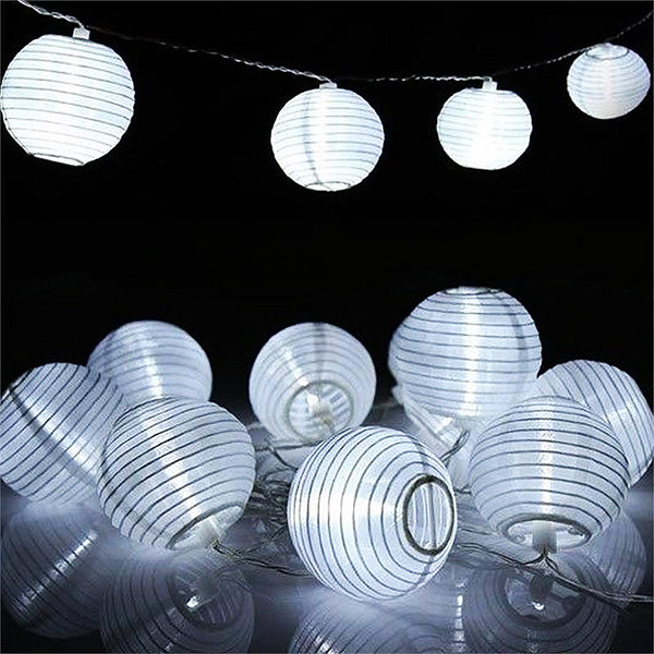 10pcs wholesale white nylon lantern string light lamp with. Black Bedroom Furniture Sets. Home Design Ideas