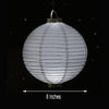 "Pack of 4 - 8"" White Hanging Paper Lantern LED Lights"