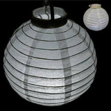 "12"" Wired Paper Lantern WITH LED - 4PCS - White"