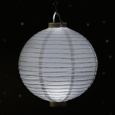 "4 x Paper 12"" Lantern with LED - White"