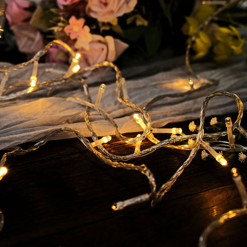 30FT 100 LED Sequential Warm White String Drape Light For Wedding Party Event