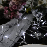 30FT 100 LED Sequential White String Drape Light For Wedding Party Event
