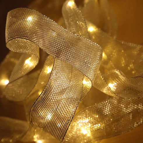 "10FT 30 LED 1.5"" Wide Flat Mesh Ribbon Sequential LED Lights"