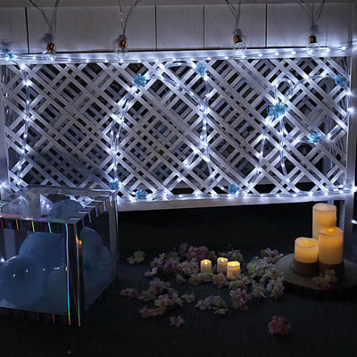 33ft 250 led white rope lights for garden patio party indoor outdoor 33ft 250 led white rope lights aloadofball Gallery