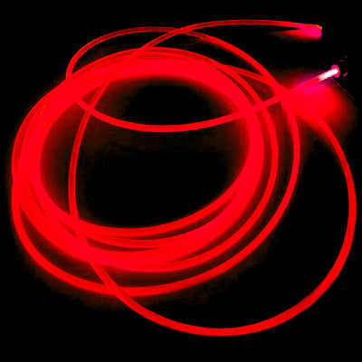 15FT Sound Activated Neon LED Tube Rope Light - RED