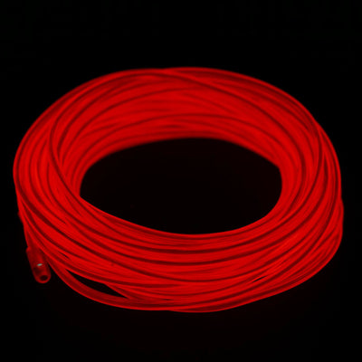 Dazzling Sound Activated Party Trail LED String EL Lights - Red - 15FT