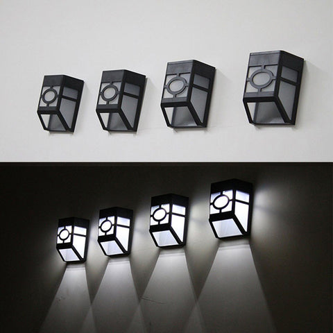 Solar Powered Wall Mount LED Light For Outdoor Garden Path Landscape Fence Lamp  eFavorMart