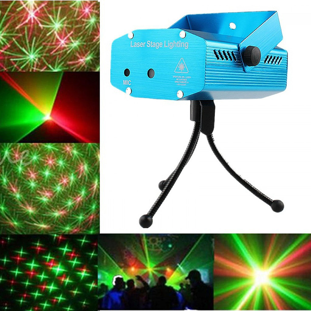 Dazzling Star Pattern Portable Disco Stage Mini Laser