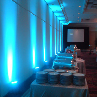 3 Watt BLUE Landscape Backdrop Reception LED Spotlight Up Light