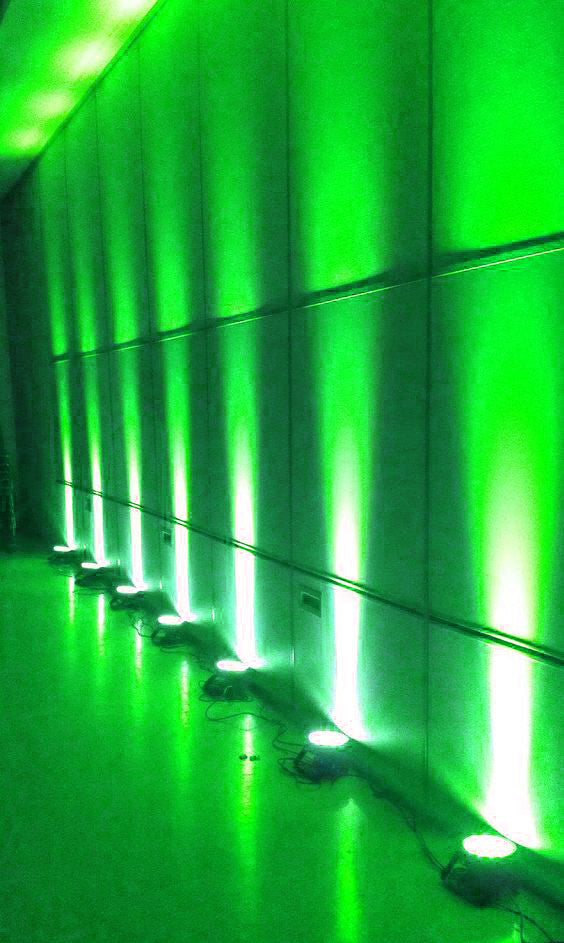 3 Watt GREEN Landscape Backdrop Wedding Reception Party Stage LED Spotlight Up Light - Green