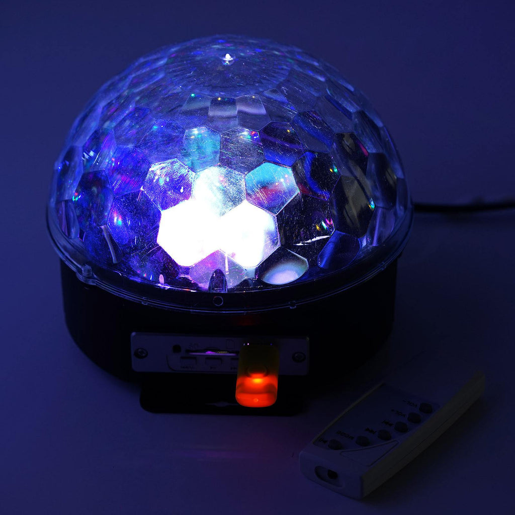 Charismatic Crystal Magic MP3 LED Ball with USB and Remote Control