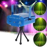 Rotating Portable LED Mini Disco Twinkling Laser Stage Lighting with Music and Tripod