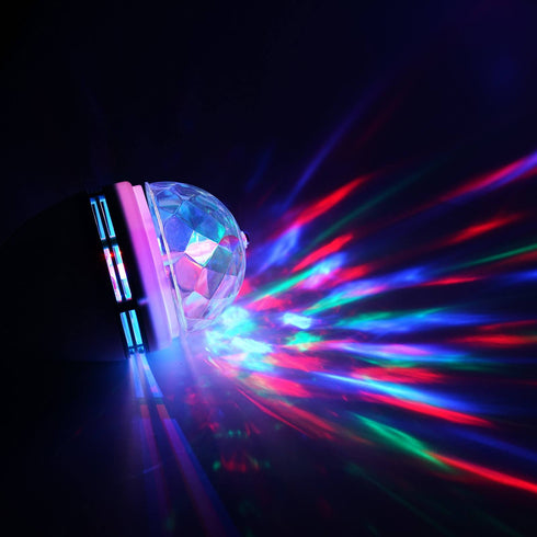 Disco RGB Crystal Ball Rotating LED Stage Light Bulb
