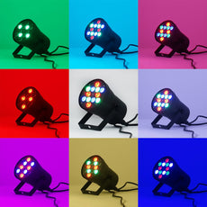 12 Ultra Bright LED Par Can RGB Stage Light  DJ Bar Party Effect Up Lighting Show DMX Strobe