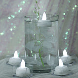 Submersible LED Waterproof Tea Lights RGB for Vase Wedding Party Fish Tank - White-12pcs