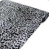 "Wholesale Taffeta Leopard Cheetah Animal Print Fabric Bolt By Yard For Wedding Theme Party Event Decoration - 54"" x 10Yards - Silver / Black"
