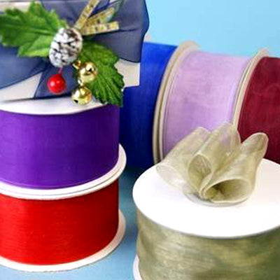 "25 Yard Wholesale 1.5"" Organza Ribbon Multiple Color Lots With Satin Edges"