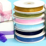 "25 Yards 3/8""DIY Organza Ribbon Lots With Satin Edges For Craft Dress Wedding"