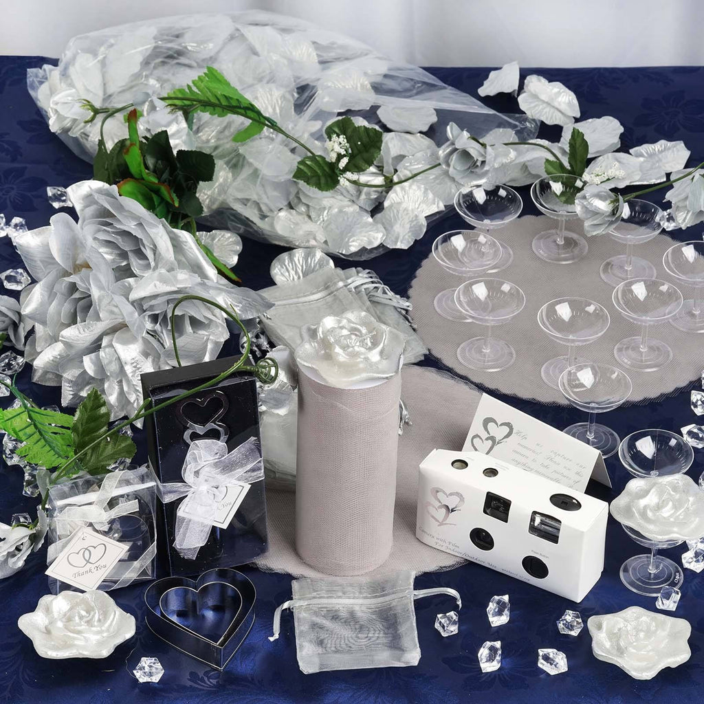 Lot of Wedding Accessories-Silver