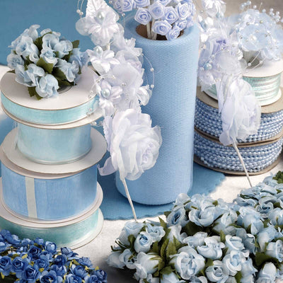 Huge lot of assorted decorations-Baby Blue