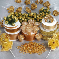 Huge lot of assorted decorations-Gold