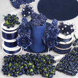 Huge lot of assorted decorations-Navy Blue