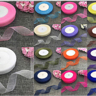 "25 Yard 7/8"" Organza Ribbon Lots With Satin Edges"