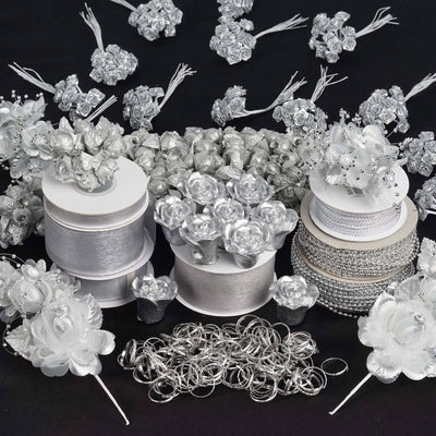 Huge lot of assorted decorations-Silver