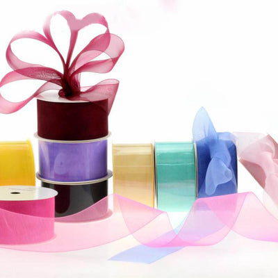 10 Yards 30FT Wired Organza Ribbon