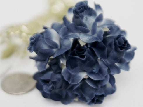 72 ITS A BEAUTIFUL LIFE Semi-Bloomed Craft Roses - Navy Blue