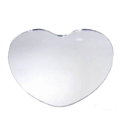 "10"" Heart Glass Mirror - 6pcs"