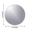 "Pack of 6 - 10"" Round Glass Mirror"