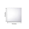 "Pack of 6 - 10"" Square Glass Mirror"