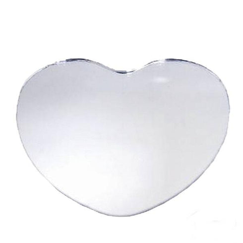 "12"" Heart Glass Mirror - 4 Pack"