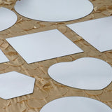 "8"" Posh Hexagon Mirror - 6/Set"