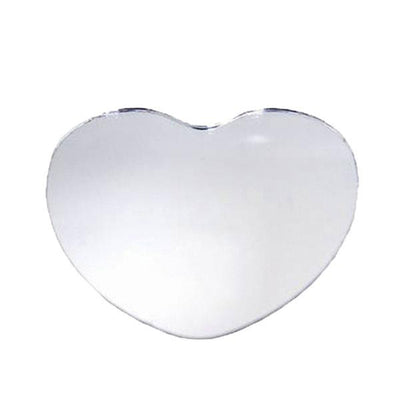 "8"" Heart Glass Mirror - 6 Pack"