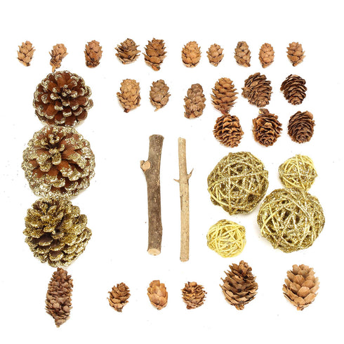 26 Pack Natural Dried Assorted Potpourri Vase Fillers Bowl DIY Table Decorations