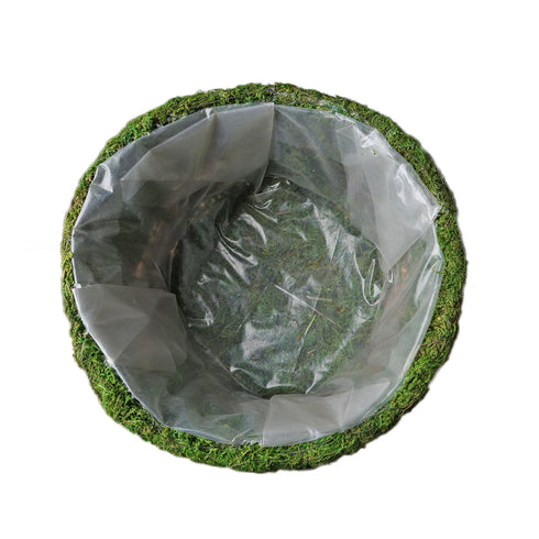 "Set of 2 | Preserved Moss Teardrop Planter Box Hanging Flower Baskets - 7"" & 10"""