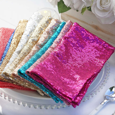 "20""x20"" Royal Blue Premium Sequin Napkin"