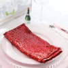"20""x20"" Red Premium Sequin Napkin"