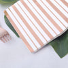20 Pack | 3 Ply Metallic Rose Gold Striped Paper Napkins | Wedding Cocktail Napkins | Dinner Napkins
