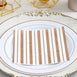 20 Pack - 3 Ply Metallic Rose Gold Striped Paper Dinner Napkins - Wedding Cocktail Napkins