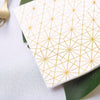 20 Pack | 3 Ply Metallic Gold Geometric Design Paper Napkins | Wedding Cocktail Napkins | Dinner Napkins