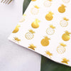 20 Pack - 3 Ply Metallic Gold Pineapple Paper Dinner Napkins - Wedding Cocktail Napkins