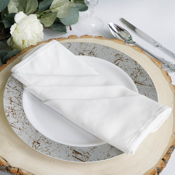 "5 Pack 20""x20'' White Commercial Grade 100% Cotton Napkins"