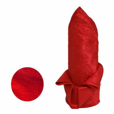 "Red 20x20"" Taffeta Crinkle Napkins 5pcs"
