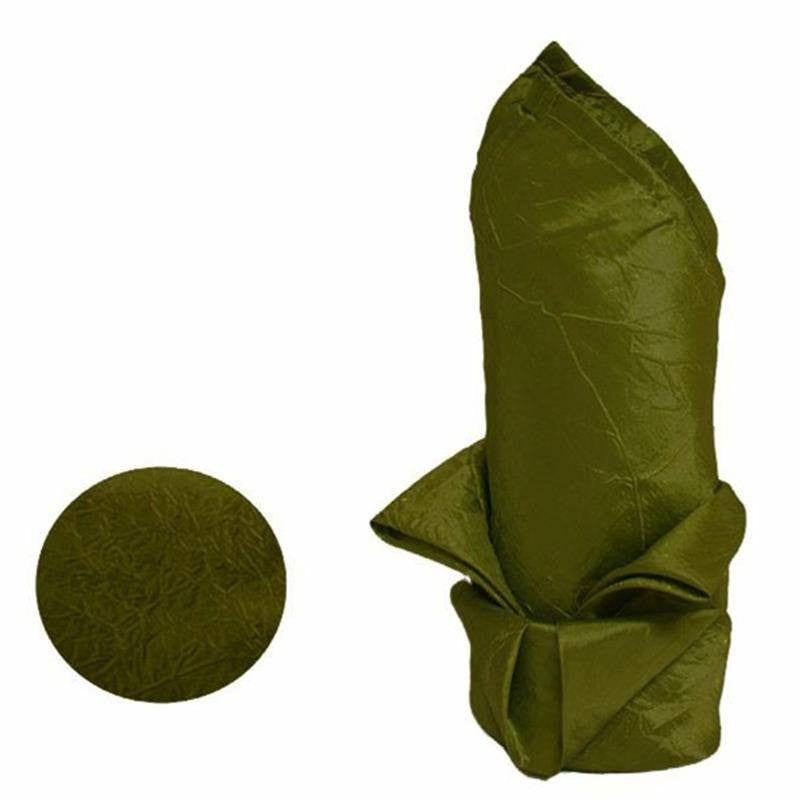 "20x20"" Taffeta Crinkle Napkins 5pcs - Moss / Willow"