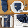 "5 Pack | 17""x17"" Premium Faux Denim Napkins"