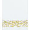 20 Pack Gold Foil Disposable White Airlaid Paper Dinner Napkins | Soft Linen-Feel Hand Towels - Scroll