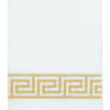 20 Pack Gold Foil Disposable White Airlaid Paper Dinner Napkins | Soft Linen-Feel Hand Towels - Greek Key